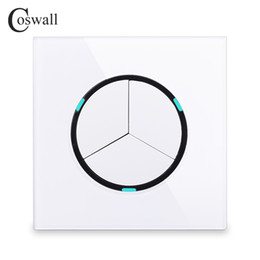 $enCountryForm.capitalKeyWord NZ - Coswall 2018 New Arrival Crystal Glass Panel white 3 Gang 1 Way Random Click Push Button Wall Light Switch With LED Indicator