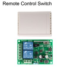 Remote Light Switch Receiver Australia - 433Mhz Remote Control Switch for Light,Door, Garage Universal Wireless AC 85V ~ 250V 110V 220V 2CH Relay Receiver and Controller