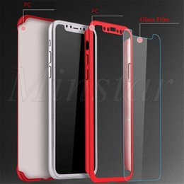 $enCountryForm.capitalKeyWord Australia - 360 Degree Full Cover Case with Tempered Glass&Package Box Hard PC Protector Cover for iPhone XS MAX XR X 7 8 Plus 6S PLUS 5S SE 50pcs Model