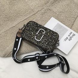 Camera Shoulder Strap Australia - New Chaohua version wide shoulder strap inclined bag Chic 100-pack sequins camera bag for 2019-1