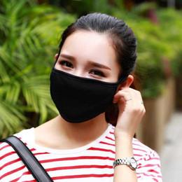 Venta al por mayor de Máscara 50pcs Anti-Polvo de la boca de algodón unisex Cara Hombre Mujer Ciclismo Negro que desgasta moda de alta calidad