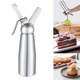 whipping tool NZ - 500Ml Cream Whipped Dispenser Aluminum Whipped Cream Dispenser Decorating Nozzles Desserts With Three Nozzles Other Kitchen Tools