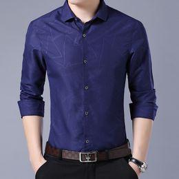 1b541d492d 2019 New Men Dress Shirts Brand Clothing Fashion Camisa Social Casual Men  Shirt Slim Fit Long-Sleeve shirt Asian size M-4XL