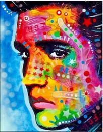$enCountryForm.capitalKeyWord Australia - Elvis Presley High Quality Handpainted & HD Print Abstract Graffiti Art Oil Painting American singer Portrait On Canvas Wall Art Home Deco