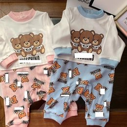 Fake animals online shopping - Baby Bear Heart Print Long Sleeves Jumpsuits Fake Two Piece Infant Toddler Boys Girls Long Sleeves Bodysuits
