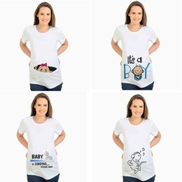1d90e0d7 Women's T-shirts Slim Cartoon Maternity Tops Baby Is Loading Funny  Pregnancy T Shirts Cotton T-shirt For Pregnant Women Tees 2xl Y19052003