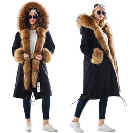 $enCountryForm.capitalKeyWord Australia - MAOMAOKONG plus size winter natural raccoon parkas black raccoon fur lining X long jacket coat