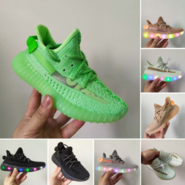 Cheap Kanye Shoes NZ - Cheap Baby Kids Kanye West lighting Children Athletic Shoes Boys Running Shoes Girls Casual Shoes Baby Training Sneakers