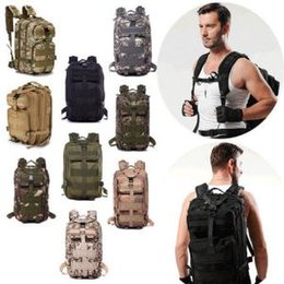 Wholesale army clothes online shopping - Tactical Camping Military Backpacks Universal Combat Rucksack Trekking Camouflag Army Trekking Bag Hiking Outdoor Sport Bag OOA6165