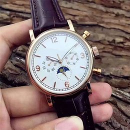 $enCountryForm.capitalKeyWord Australia - 2019 new top luxury men's watch automatic mechanical brown leather moon phase business military fashion men mens watches male clock orologio