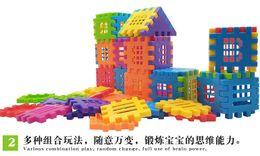 $enCountryForm.capitalKeyWord UK - 2 pcs Childrens plastic building blocks assembling and assembling intelligent toys Childrens Castle building blocks toys wholesale