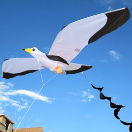 games activities NZ - 3d Seagull Kite Kids Toy With Tailfun Outdoor Flying Activity Game Children With Family Sports Tail Easy To Fly Power Kite 2019