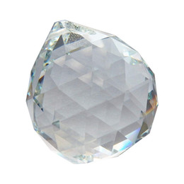 Pear shaPe Pendants online shopping - 60mm Clear Crystal Ball Faceted Ball Prism Art Decor for Photography Wedding Decor Hanging Drop Chandelier Pendants Decorative Ball