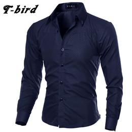 $enCountryForm.capitalKeyWord UK - T-Bird 2019 Casual Shirts Men Fashion Long Sleeve Plaid Shirt Camisa Masculina Men Shirt Solid Color Male Brand Clothing #424779