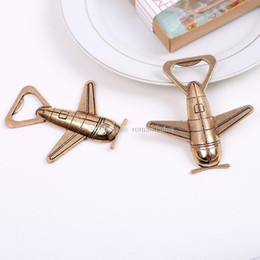 $enCountryForm.capitalKeyWord NZ - New Airplane Bottle Opener Adventure Wedding Favor Gift Metal Vintage Aircraft Bar Beer Wine Kitchen Tools DHL Free Shipping