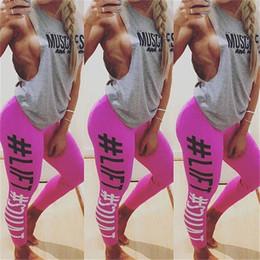 $enCountryForm.capitalKeyWord Australia - Womens Leggings Womens Fitness Yoga Leggings Running Sport Letters Print Jogging Pants Trousers Sport Leggings Track Pants Size S-XL