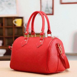$enCountryForm.capitalKeyWord Australia - Fashion Women Handbags Ladies Handle Bag Leather Totes Black Red Beige PU Leather Shoulder Bag Fashion Hobos