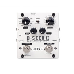 Analog Pedals Australia - JOYO D-SEED II Looper Dual Channel Stereo Delay Guitar Effect Pedal Delay Copy Analog Reverse Modulation Models musical instruments