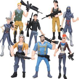 Pack Supplies Australia - Pack of 8 Game Figures Toys Battle Royale Horse Pinata Raven Dark Voyager PVC Action Figure Model Doll Toy Party Supplies Favors