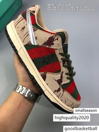 SB Zoom Dunk Low PRO Freddy Krueger Casual Running Shoes For Men Women Dunks Skateboarding shoes Designer Sports Sneakers 36-45 on Sale