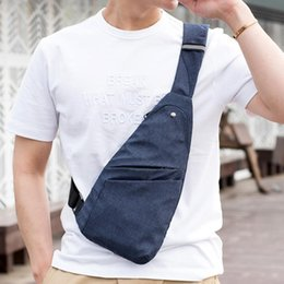 chest belt for men Australia - Thin Light Men Canvas Casual Bag for Belt Hip Pack Anti-theft Travel Outdoor Shoulder Chest Crossbody Bag Messager For Mens
