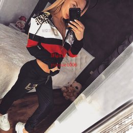 Wholesale yoga pants zipper pockets for sale – dress Women Tracksuit Letter Printed Hoodie Pants set Casual Comfortable Yoga Sports Outdoor Long Sleeve Tops Jogger Clothing Set pi n2