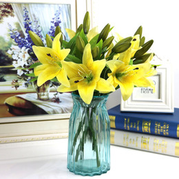 $enCountryForm.capitalKeyWord Australia - Home Fake Lily Romantic Single Decorative Crafts Garden Easter Birthday Office Artificial Flower Wedding Party