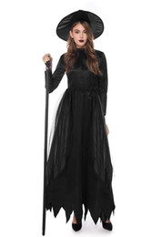 Gothic witch clothinG online shopping - Halloween Women Cosplay Dress Witch Theme Costume Female Funny Sexy Evening Party Stage Clothes Devil Costume Witch Costume Vampire Party