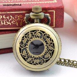 $enCountryForm.capitalKeyWord Australia - Susenstone Luxury Pocket Watch Men Women Vintage Steampunk Retro Bronze Design Pocket Watch Quartz Pendant Necklace Gift 30