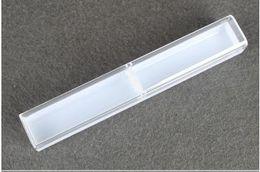 Crystal Box For Case Australia - Retail box Pen boxes Plastic Transparent case gift box Pen holder For promotional crystal pen lin4813