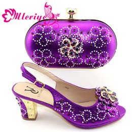 $enCountryForm.capitalKeyWord Australia - beautiful Shoes And Bag Matching Set With purple Hot Selling Women Italian Shoes And Bag Set For Party Wedding
