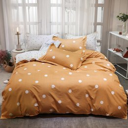 $enCountryForm.capitalKeyWord Australia - 2019 New Autumn Winter Bedding Set Dots Simple Bedding SeBedding Set Bedclothes Quilt Cover Flat Sheet Pillow Cases
