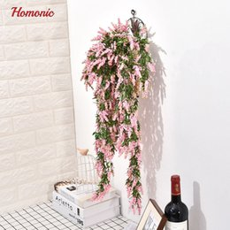 $enCountryForm.capitalKeyWord Australia - Artificial Hanging Flowers 80cm Lavender Flower Stamen Plants With Leaves Plastic Bunches Party Home Garden Decoration Rattanp35