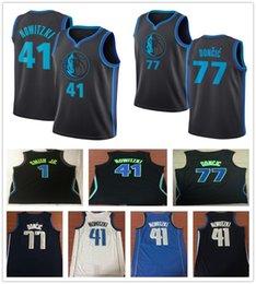 2019 New City Edition Navy Blue 77 Luka Doncic Jersey White Black Stitched  1 Dennis Smith Jr. 41 Dirk Nowitzki Jerseys Basketball Shirt 6753943dd
