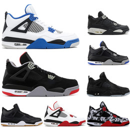 $enCountryForm.capitalKeyWord Australia - With socks 2019 High Quality 4 4s Basketball Shoes BRED ROYALTY tattoo BLACK CAT ALTERNAT fashion OREO Men Sports Sneakers Shoes size 40-47