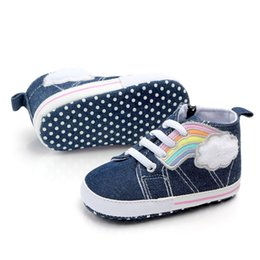 christmas gift shoes UK - Baby Shoes Girl Boy Soft Anti-Slip Canvas Zip Shoes Baby Great gift Lace-Up Composite sole Colorful Shoes For 0-18M