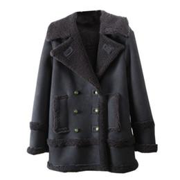 Imported jackets online shopping - 2019 Winter Jacket Women Imported Lamb Fur Real Fur Coat Women Loose OverCoat Luxury Thicken Warm Female Plush Short Coat