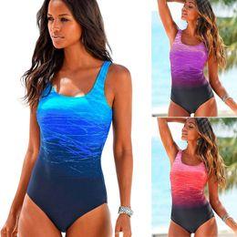 Clothes Pieces Australia - 2019 Sexy One Piece Women Swimwear Print Beach Woman Bikini Swimsuit Bathing Suit Push Up Cross Back Monokini Summer Clothes Y19052101
