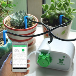 Wholesale cell phone plants for sale - Group buy Cell Phone Control Intelligent Garden Automatic Watering Controller Indoor Plants Drip Irrigation Device Water Pump Timer System Y200106