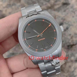 Wholesale Titanium Color Automatic Mechanical Men Luxury Watch Stainless Steel Bamford Mens Water Resistant Designer Watches Wristwatches