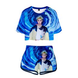 $enCountryForm.capitalKeyWord UK - Drop shopping 3D print KPOP GOT7 WORLD TOUR KEEP SPINNING Two Pieces sets Women Fashion girl Harajuku T-shirts shorts Clothes