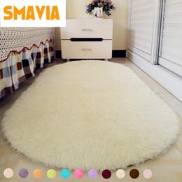 $enCountryForm.capitalKeyWord NZ - Solid Color Ellipse Floor Carpet Long Hair Shaggy Soft Area Rug Bedroom Living Room Anti Slip Kids Mat Plush Rug (1pc) 12 Colors