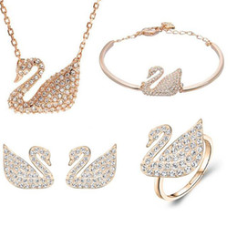 b2c5eb7bfb3ef White Gold Plated Swan Necklace Online Shopping | White Gold Plated ...