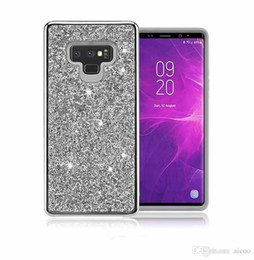 Bumper Case Pc Australia - Bling Glitter Plating Hybrid Bumper Case PC TPU Full Protection Shockproof Armor Cover For Iphone X 8 7 6S Plus Samsung S9 S8 Plus Note8 OPP