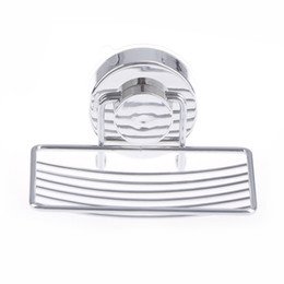 Chinese  Silver Bathroom Vacuum Suction Cup Soap Holder Cup Box Dish Soap Storage Saver Shower Tray Bathroom Accessories MAYITR manufacturers