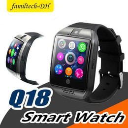$enCountryForm.capitalKeyWord Australia - Q18 smart watch watches bluetooth smartwatch Wristwatch with Camera TF SIM Card Slot   Pedometer   Anti-lost   for apple android phones