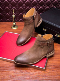 khaki color boots NZ - Hot Sale-new Mens high quality genuine nubuck leather boots color blacK khaki darkdropshipping