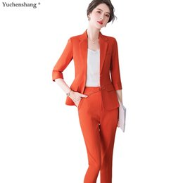 new designs ladies blazers NZ - 2020 New Formal Pant Suit Office Lady Uniform Designs for Women Business High-quality Suits Work Wear 2 Pieces Set