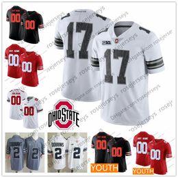 $enCountryForm.capitalKeyWord NZ - Custom 2019 Ohio State Buckeyes College Football Any Number Name White Red Gray Black Camo 1 Fields Dobbins Olave Haskins George OSU Jersey