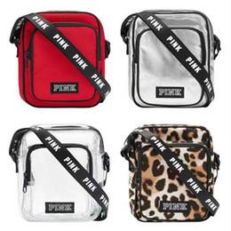 09ab480b8fa1 PINK Letter Print Sling Bag Belt Messenger Crossbody Bags Women Men  Teenager Backpacks Square Sports Travel Shopping Storage Purse Tote New